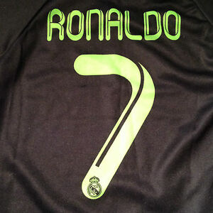 reputable site 341a5 7e63a Details about Euro Cup Child 4 Cristiano Ronaldo #7 Soccer Jersey Real  Madrid FC Football Club