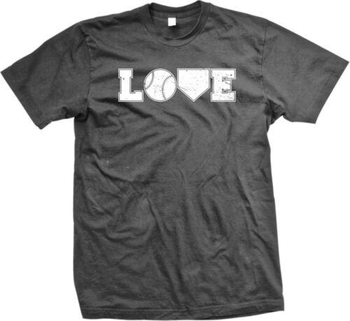 Love Baseball Ball Home Plate Americas Pastime Homeruns Pitch Catch Mens T-shirt