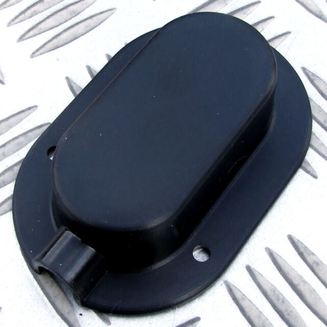 2 x CABLE ENTRY COVERS BLACK, SOLAR SATELLITE AERIAL, AIR CON, MOTORHOME CARAVAN