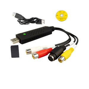 Usb-2-0-Power-Cable-VHS-to-DVD-3-Phono-RCA-Gold-U-Video-AV-RW-Capture-Adapter-UK