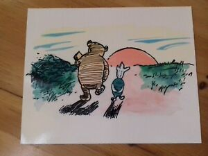 Rare Winnie the Pooh & Piglet Print with Coated Gloss Finish by Reflex Marketing