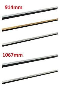 Garage Door Brush Strip 25mm Bristles Seal Draught 914mm White Excluder New