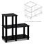 corner shelf stand display shelves rack storage 3-tier bookcase bookshelf unit