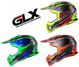 GLX-Adult-Full-Face-Off-Road-Motocross-Dirt-Bike-ATV-Helmet-MX-Gear-DOT-Approved