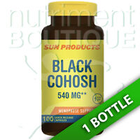Black Cohosh 540 Mg 100 Caps By Sun Products