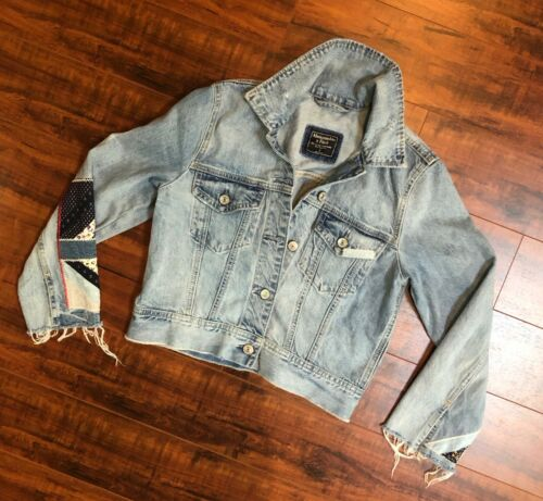Abercrombie & Fitch New York S Cropped Patchwork F