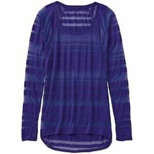 NWOT-Athleta-Shiva-Stripe-Top-3-Purple-Long-Sleeve-Extra-Small