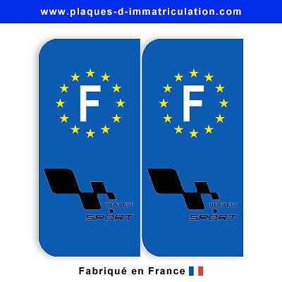 Sticker plaque renault sport F (jeu de 2 stickers)