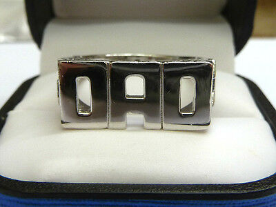 Zielsetzung Solid Sterling Silver.925 Dad Ring - 7 Grams QualitäTswaren