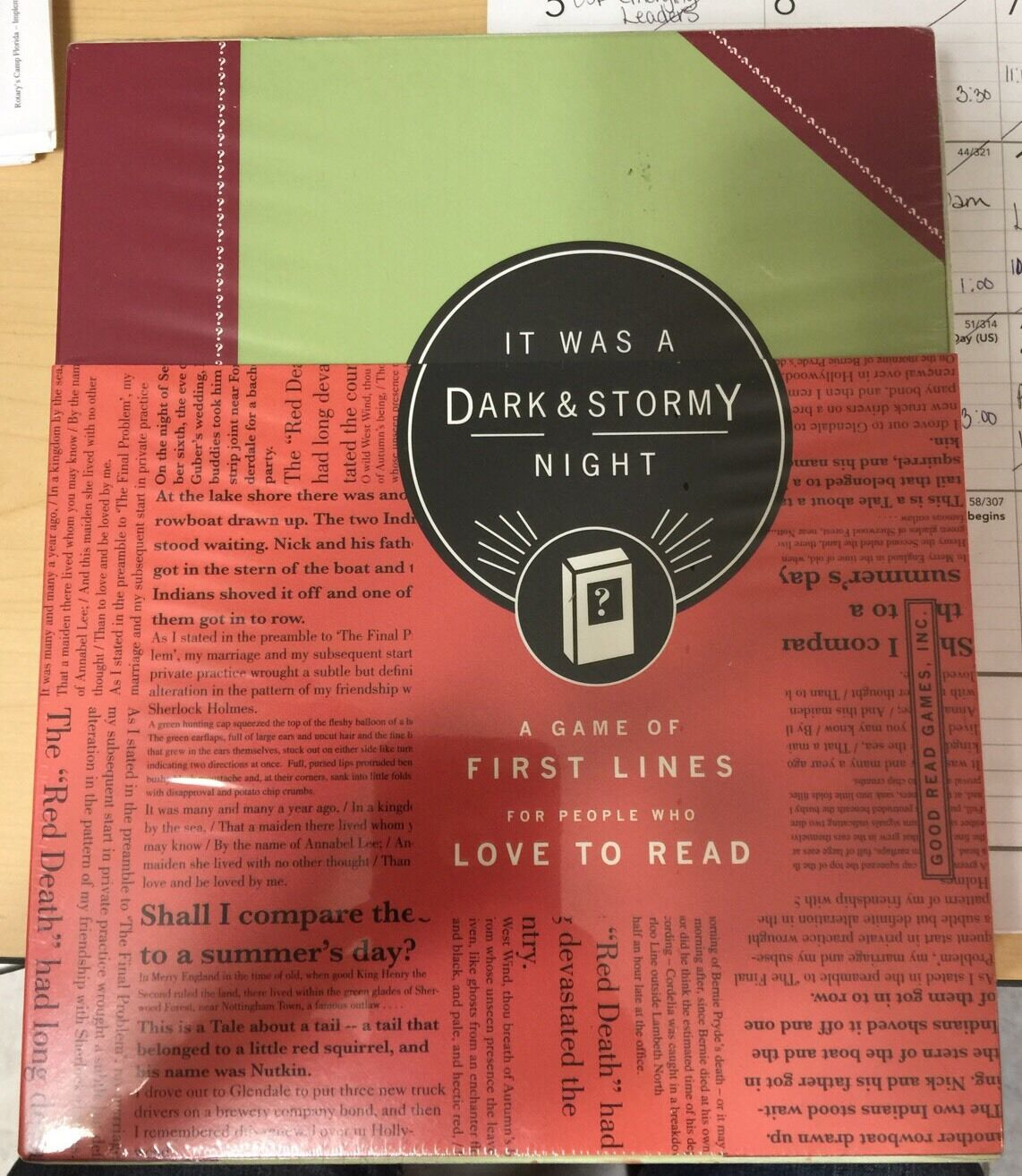 It Was a Dark & Stormy Night - A Game of First Lines for People Who Love to Read