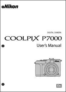 Nikon coolpix p7000 digital camera user guide instruction manual.
