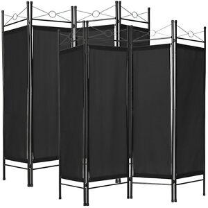 2x 4tl Raumteiler Trennwand Paravent Umkleide Sichtschutz Spanische Wand Schwarz
