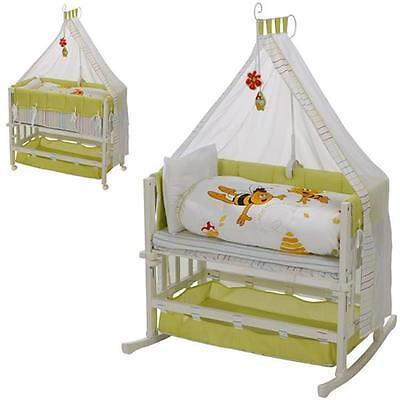 "Roba Stubenbett Babysitter 4-in-1 ""Biene Maja"" Beistellbett Stubenwiege #7832"