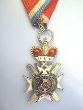 SERBIA, KINGDOM, ORDER OF TAKOVO, 4th class, very rare