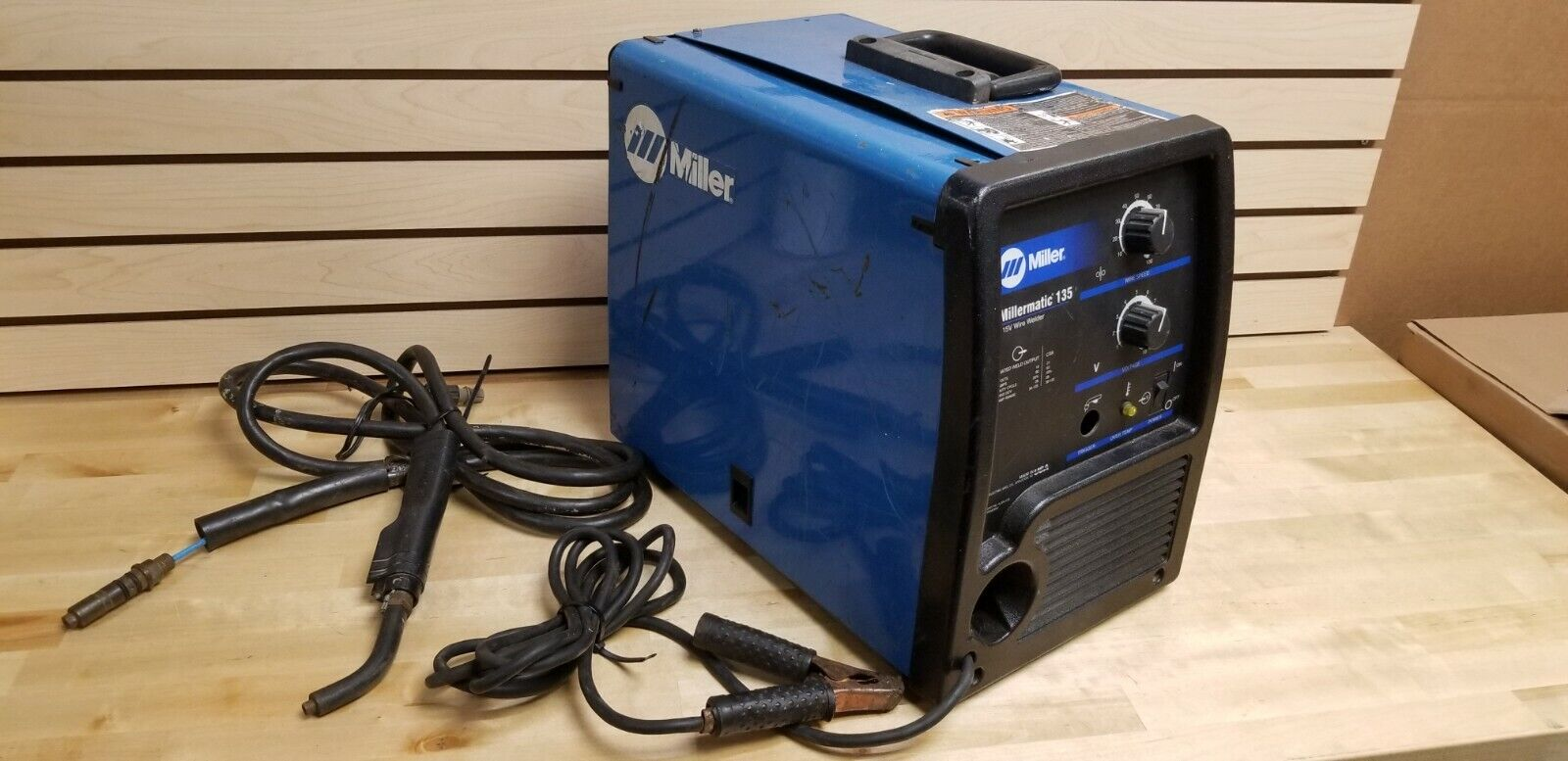 Miller Millermatic 135 Wire Welder Welding Machine - Blue. Available Now for 599.99