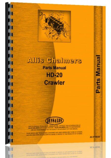Allis Chalmers Hd20 Hd20f Hd20g Hd20h Crawler Ts20 Tractor