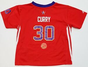 the latest 5637d 007e8 Details about NEW Adidas 2014 NOLA NBA All Star West Stephen Curry Warriors  Child Jersey S/L