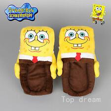 Cartoon Spongebob Squarepants Figure Soft Plush Stuffed Warm Indoor Slipper Gift