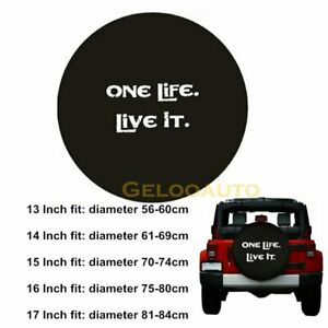 Spare Tire Cover PVC Leather WaterProof Dust-Proof Universal Spare Wheel Tire Cover For Compatible Honda 15 15 For Diameter 27-29