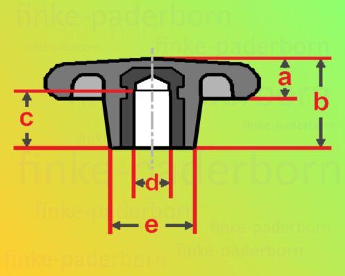 Sterngriffmutter M8 Griff Ø 63mm DIN6336 Sternmutter Feststellmutter Sterngriff