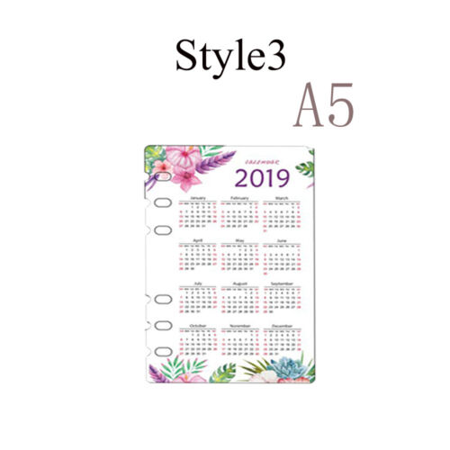 Ring Binder Plastic Calendar Notebook Paging Separator Notepad Inner Paper