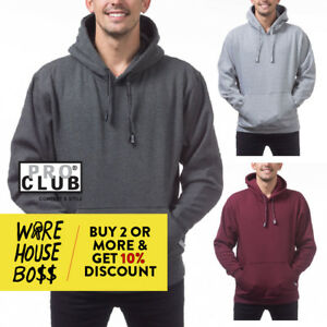 PROCLUB-PRO-CLUB-MENS-CASUAL-PULLOVER-HOODIE-HOODED-SWEATSHIRT-BIG-AND-TALL