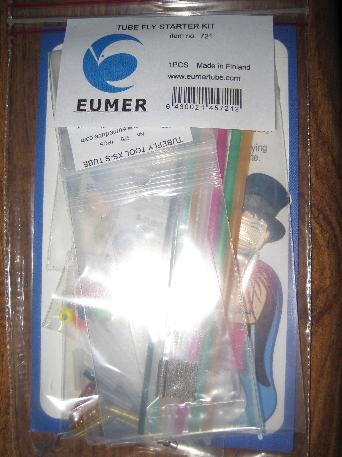 NUOVO eumer della Finleia Scei ottone e plastica Tubo Salmone Fly estrellater Kit N. 721