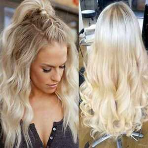 Hot-100-Indian-Human-Hair-Full-Lace-Wigs-Lace-Front-Wigs-Bleached-Blonde-Wavy-L5
