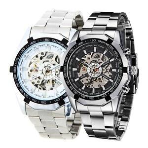 Black-Dial-Men-Skeleton-Stainless-Steel-Self-winding-Mechanical-Sport-Watch