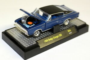 M2-Machines-1-64-Scale-R34-1966-Dodge-Charger-383-Blue-Black-Diecast-Model-Car