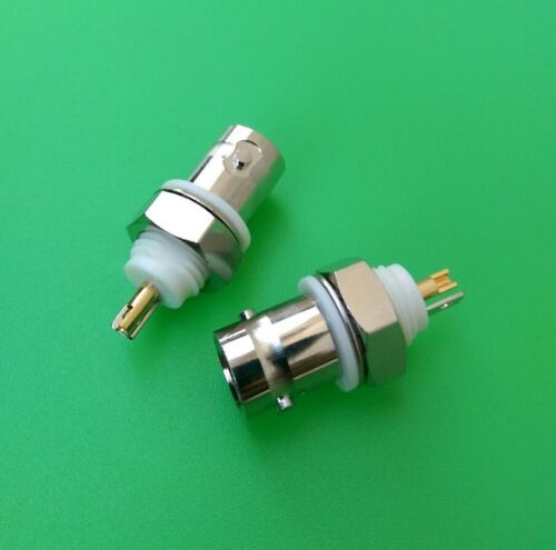 10 PCS USA Seller BNC Female Isolated Ground Bulkhead Connector