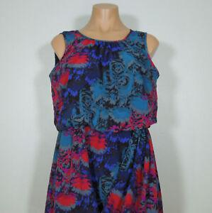 BANANA-REPUBLIC-Women-039-s-Sleeveless-Floral-Dress-size-6