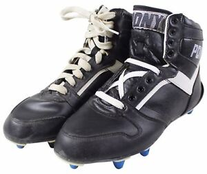 3494721d1cc NEW VTG 90s PONY HIGH TOP FOOTBALL CLEATS Size 7 Black White NOS ...