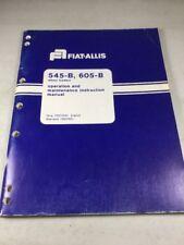 Fiat Allis 545 B 605 B Wheel Loader Operation Amp Maintenance Manual