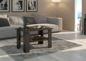 Image Is Loading Half Price Offer Coffee Table Walnut Effect 80x60x55