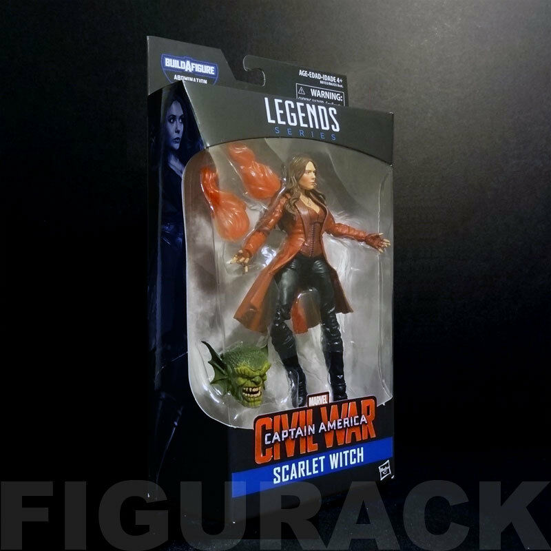 Marvel Legends Civil War Series Scarlet Witch 6-Inch Figure  Abomination BAF