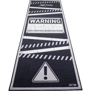 XQMAX Warning Non Slip Carpet Darts Mat 237cm x 80cm Lightweight Do Not Disturb