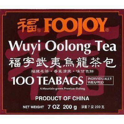 Foojoy China Wuyi Oolong (Wu Long) Weight Loss Tea 100 Tea Bags-FAST SHIP