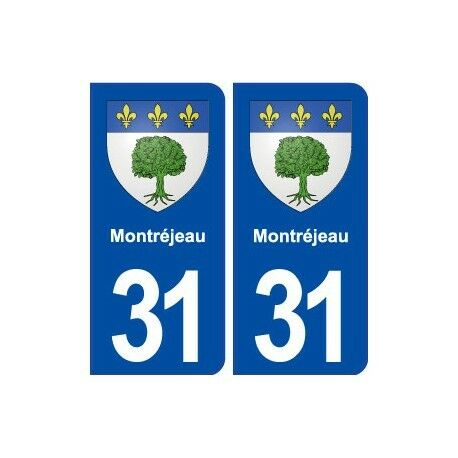 31 Montréjeau blason ville autocollant plaque stickers arrondis