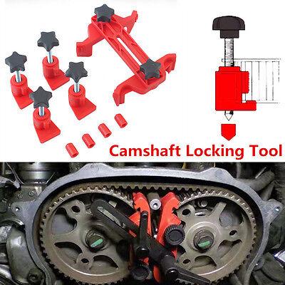 5pc Set Universal Dual Cam Clamp Camshaft Timing Sprocket Gear Locking Tool