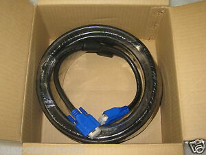 New Genuine Dell 50 Foot VGA Extension Cable 15 Pin Male to 15 Pin Female P0696