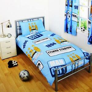 Manchester-City-Simple-Parure-De-Lit-Ensemble-De-Lit-patch-Man-City-Football-Literie-Neuf