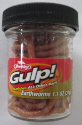BERKLEY Gulp 1.1 oz Earthworm - Brown
