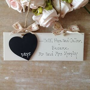 Wedding Countdown Gifts For Groom : ... -Wedding-Engagement-Gift-Countdown-Chalkboard-Bride-And-Groom-Sign