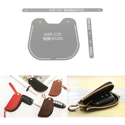 Clear Leather Craft Acrylic Perspex Coin Purse Pattern Stencil Template Tool