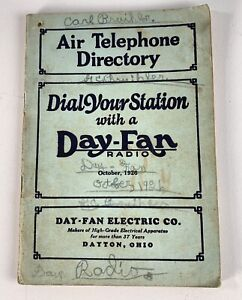 1926 Day Fan Radio Air Telephone Directory Short Wave Receiver Dayton OH Ohio