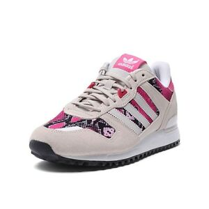 4250a83df53b7 adidas ZX 700 Womens Retro Sports Trainers Beige Pink Classic Shoes ...