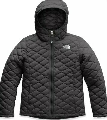 The North Face Kids Girl S Black Thermoball Hoodie Jacket