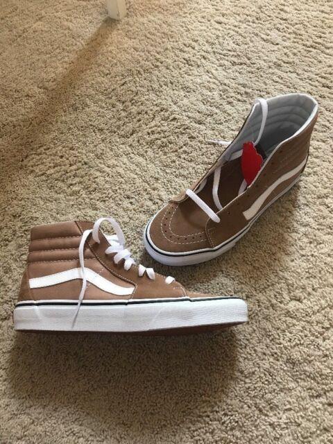 de274fd4 Vans Sk8-Hi Skate Shoes Tiger Eye Tan/ True White Men's VN0A38GEQSV