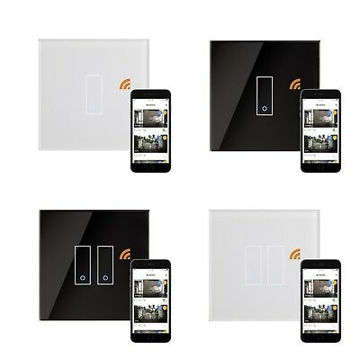 Retrotouch Iotty Remote Control Black White Glass Smart Wifi On Off Light Switch Verfrissing
